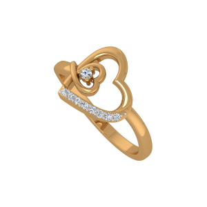 Dear Hearts Gold Diamond Heart Ring