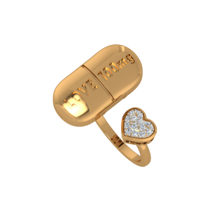 The Love Dose Gold Diamond Ring