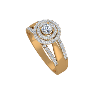 The Vivacious Solitaire Gold Diamond Anniversary Ring