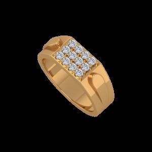 Mens Personage Gold Diamond Men's Ring
