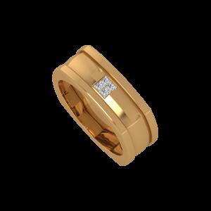The Round Square Gold Diamond Ring