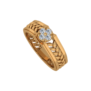 The Swirly Garden Gold Diamond Ring