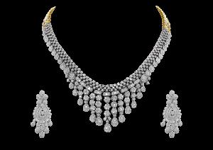 Swirly Maharani Diamond Necklace