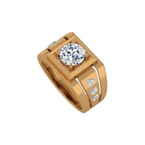 The Geometrick Gold Diamond Solitaire Ring