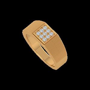 The Matt Mat Gold Diamond Men's Ring