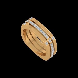 The Super Square Gold Diamond Ring