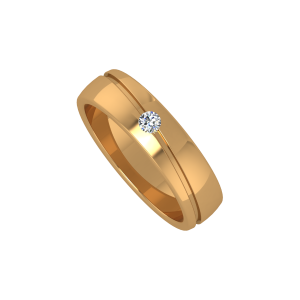 The Solitaire Flair Gold Diamond Ring