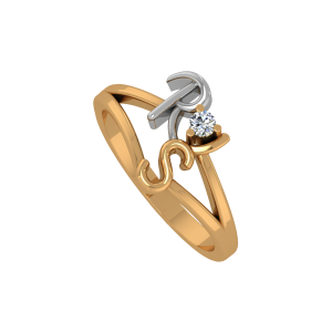 The Initials Ring Gold Diamond Ring