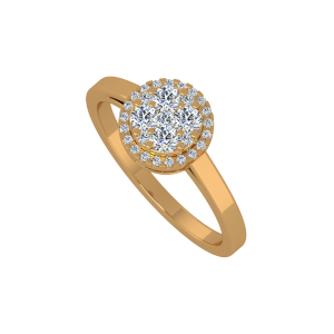 The Cool Deco Gold Diamond Ring