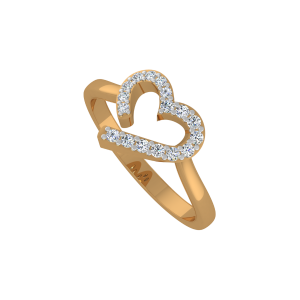 Way To Heart Gold Diamond Ring
