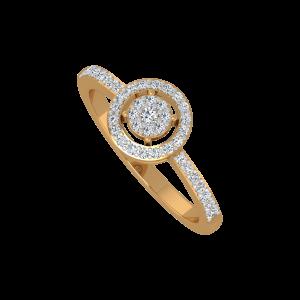 The Glitter Mesh Gold Diamond Ring