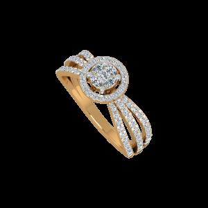 The Golden Swivel Gold Diamond Ring