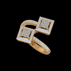 The Tango Squares Gold Diamond Ring
