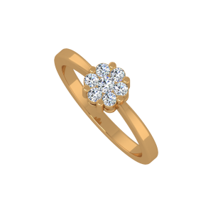 Purely Floral Gold Diamond Ring