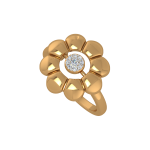 The Golden Roundabout Gold Diamond Floral Ring