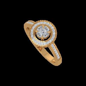 Radiating Round Gold Diamond Ring