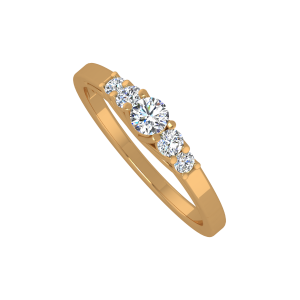 As Straight As A Solitaire 1846 Gold Diamond Ring
