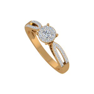 The Classy Style Gold Diamond Ring