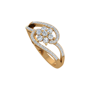 The Floral Fiesta Gold Diamond Ring