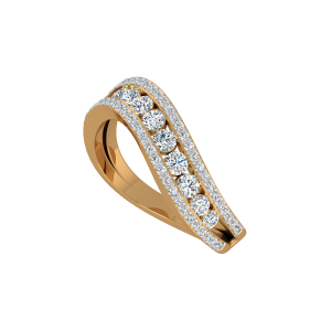 The Flowing Diamonds Gold Diamond Ring