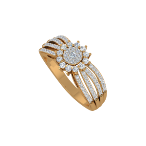 The Aureole Gold Diamond Ring