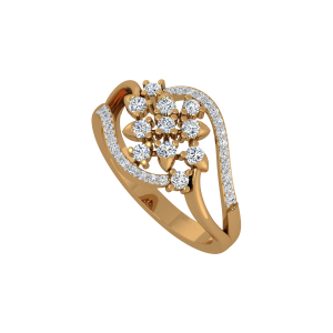 The Floral Fission Gold Diamond Ring