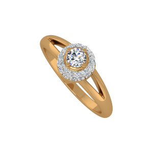 The Sugary Solitaire Gold Diamond Ring
