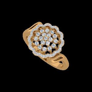 Loud & Flower Gold Diamond Ring