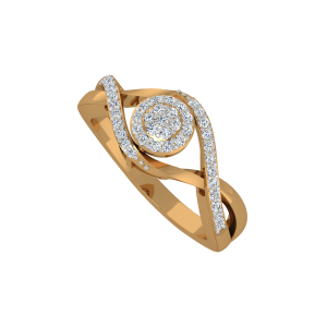 The Golden View Gold Diamond Ring
