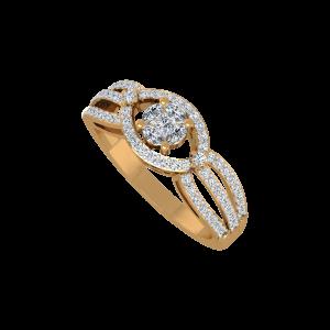 Iconic N Posh Gold Diamond Ring