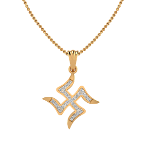 The Swastik Balance Diamond Pendant