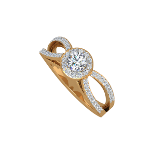 The Manifold Solitaire Gold Diamond Ring
