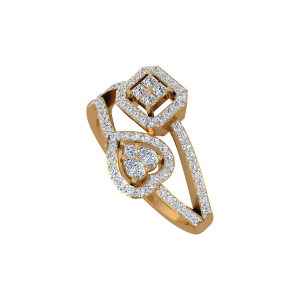 The Collective Heart Gold Diamond Ring