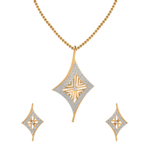 The Side Glance Diamond Pendant Set