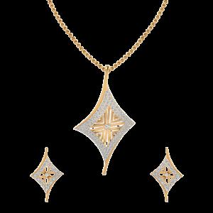 The Side Glance Diamond Pendant Set