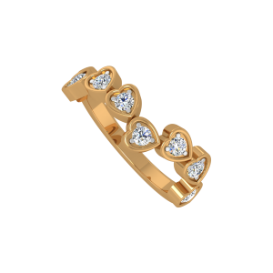 The Million Hearts Gold Diamond Heart Ring