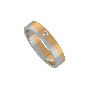 The Entangled Band Gold Diamond Ring