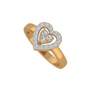 The Full Hearts Gold Diamond Ring