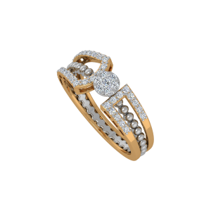 The Melange Gold Diamond Ring