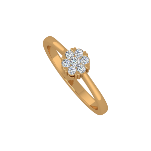The Floral Touch Gold Diamond Ring