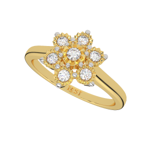 The Floral Edition Gold Diamond Ring