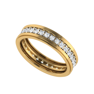 The Floating Diamonds Eternity Couple Band