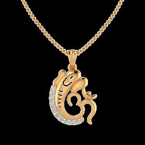 The Ganesha Blessings Diamond Pendant