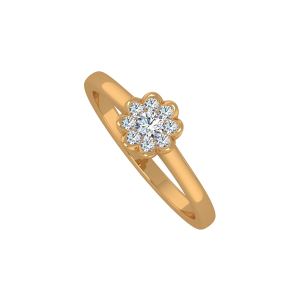 The Floral Sheen Gold Diamond Ring