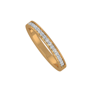 The Simplified Gold Diamond Eternity Ring