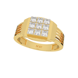 The Outwit Gold Diamond Men's Ring