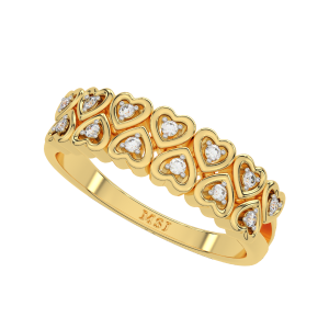 The Hearts Out Gold Diamond Ring