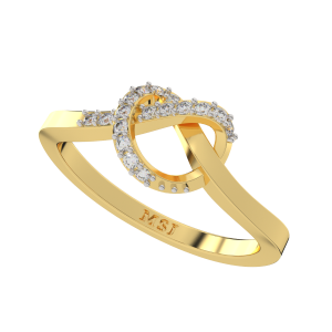 Flow Free Gold Diamond Ring