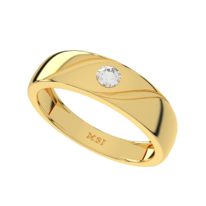 The Flamboyant Gold Diamond Men`s Ring