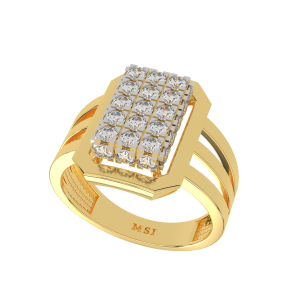 The Splendid  Gold Diamond Men`s Ring